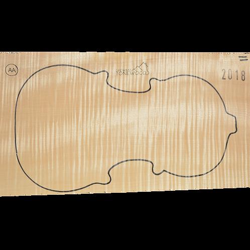 Flamed maple | One piece Violin set No.11