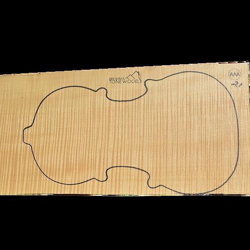 Flamed maple | One Piece Violin set No.21
