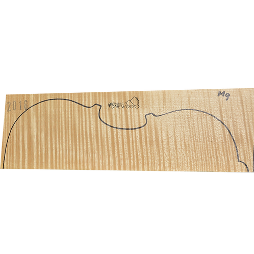 Flamed maple | Viola set No.9