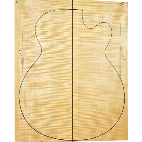 Archtop Jazz guitar back + sides No.5