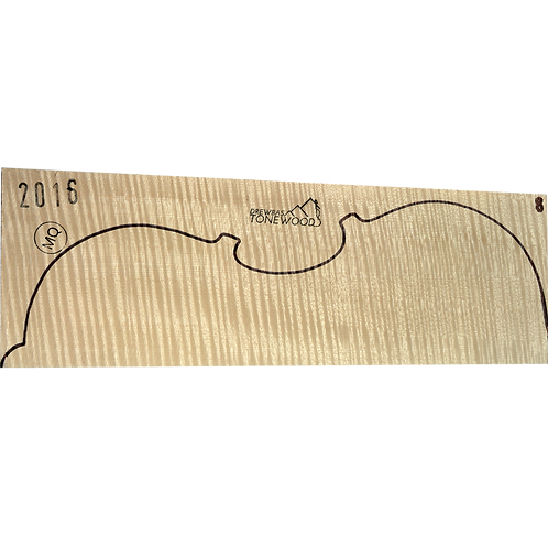Flamed maple | Viola MQ 2pc set No.8