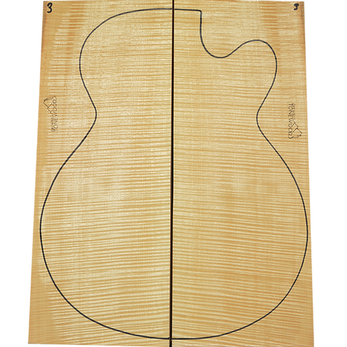 Archtop Jazz guitar back + sides No.3