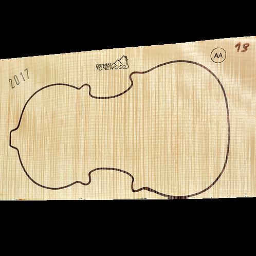 Flamed maple | Violin set No.13