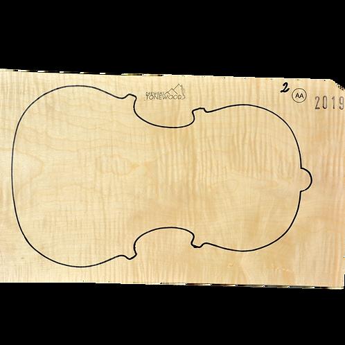 Flamed maple | One Piece Viola set No.2