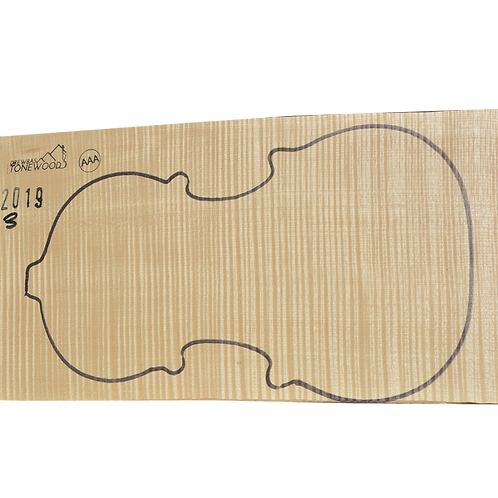 Flamed maple | One Piece Violin set No.3