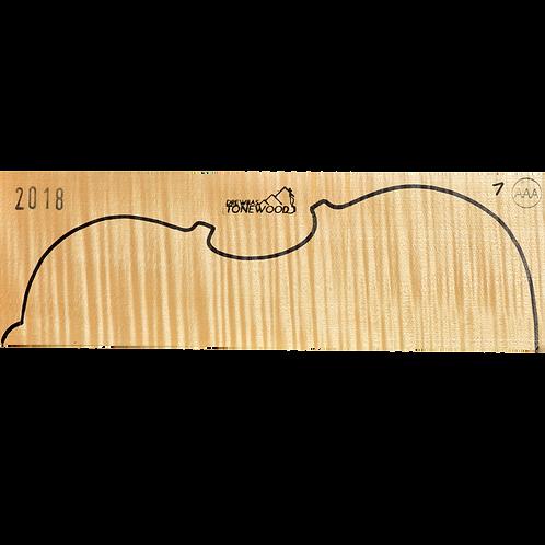 Flamed maple | Viola set No.1 (low density wood)