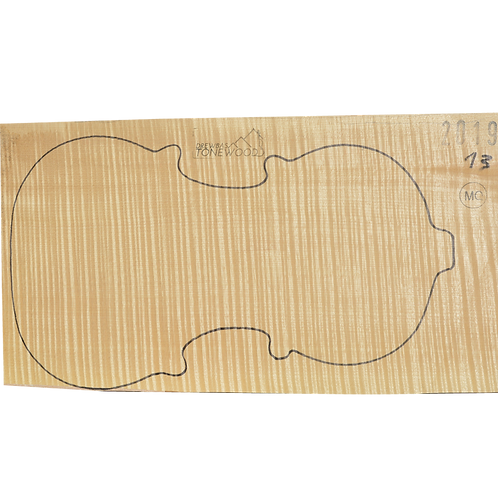 Flamed maple   One Piece Violin set No.13