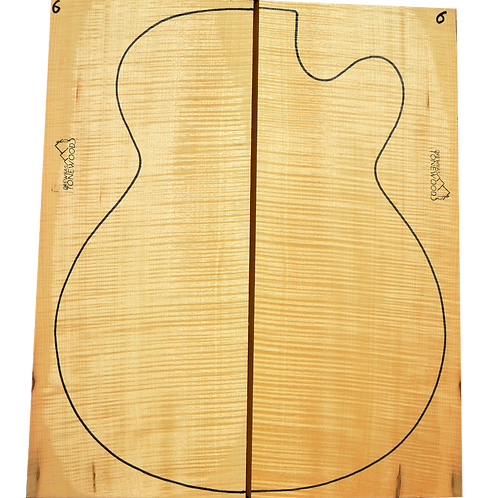 Archtop Jazz guitar back + sides No.6