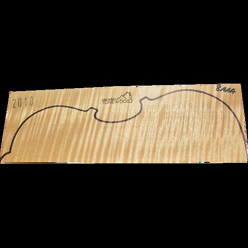 Flamed maple | Viola set No.8
