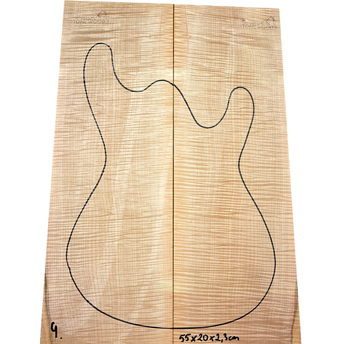 Flamed maple   Guitar Top No.4