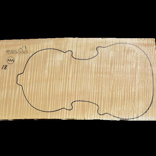 Flamed maple | One Piece Violin set No.18