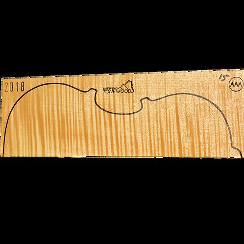 Flamed maple | Viola set No.15 (low density wood)