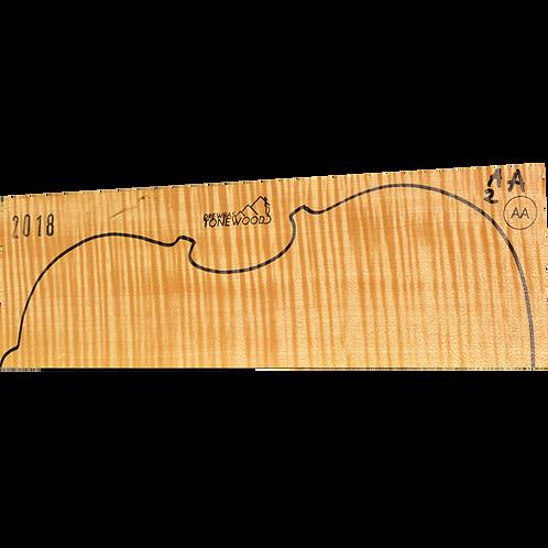 Flamed maple | Viola set No.2 (low density wood)