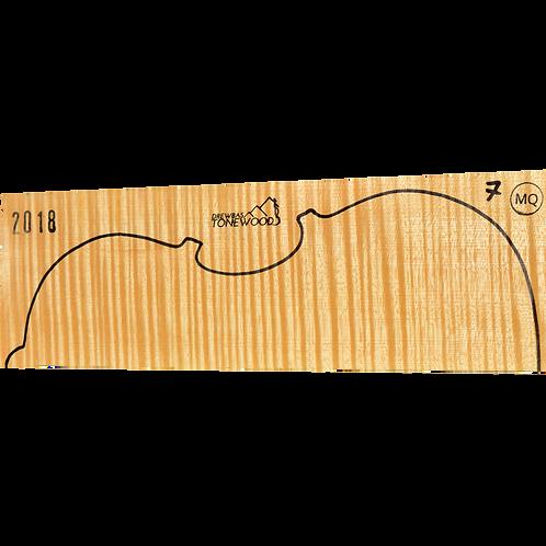 Flamed maple | Viola set No.7 (low density wood)