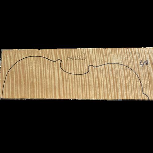 Flamed maple | Viola set No.49(on same board like No.50)