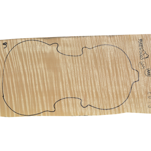 Flamed maple | One Piece Violin set No.9
