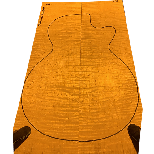 Birdsye Maple | Guitar drop top No.16