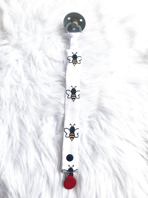Attache tétine Lola l'abeille (clip de couleur à choisir)