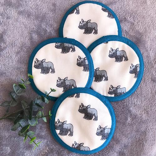 Lot de 4 disques nettoyants Victor le Rhinocéros