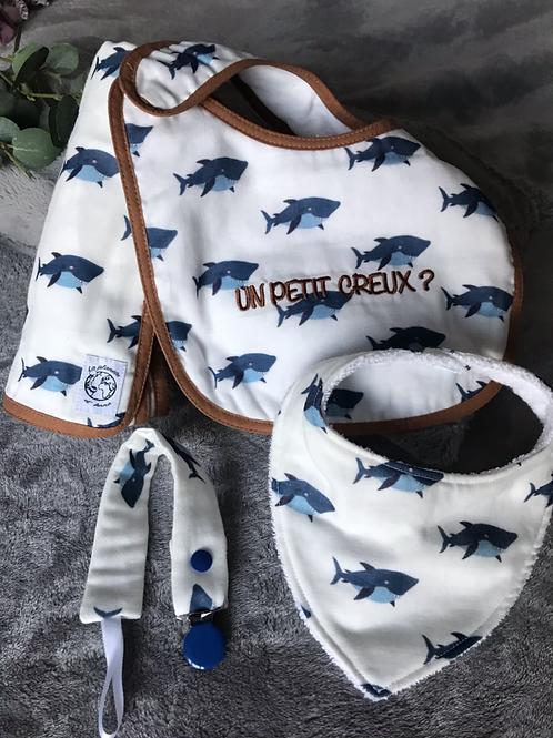 Coffret cadeau igor le requin (attache tétine)