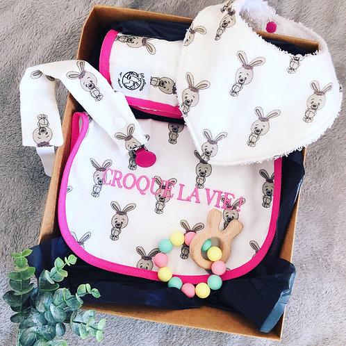 Coffret cadeau Mila la lapine (attache tétine)