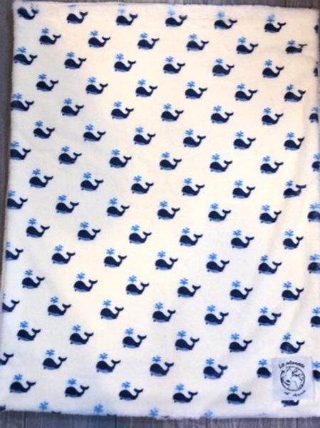 Couverture/Plaid Baby Malo la Baleine