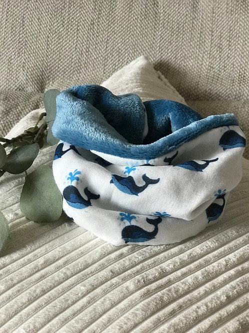 Snood Malo la baleine (bleu)