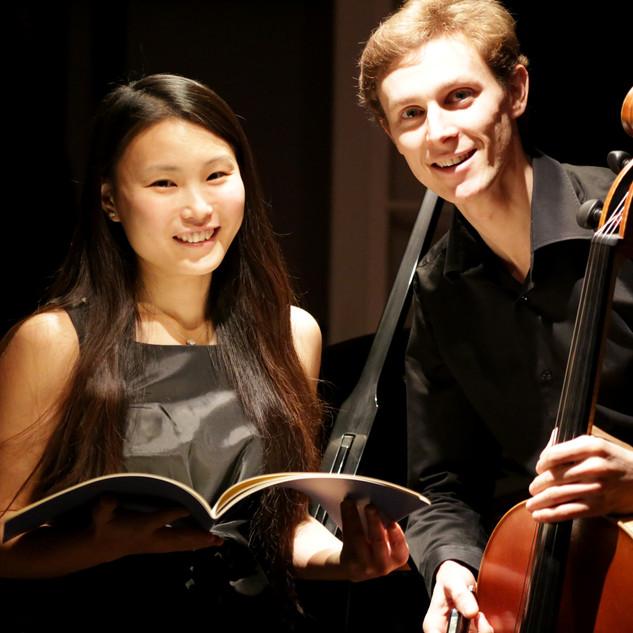 Tomoyo Seillier et Thibault Seillier, duo violoncelle et piano.