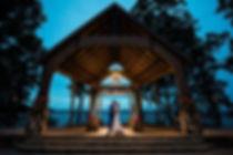 Lanier Island Wedding a Peachtree Poine. Chuppah ceremmony decor