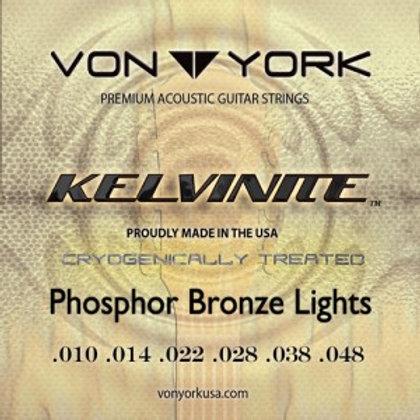 KELVINITE ACOUS. GUITAR PHOSPHOR BRONZE, 10-48 LGT