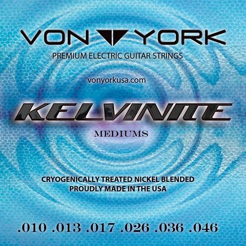KELVINITE ELECTRIC GUITAR STRINGS, 10-46 MEDIUMS