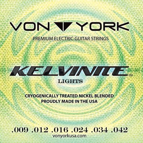 KELVINITE ELECTRIC GUITAR STRINGS, 09-42 LIGHTS