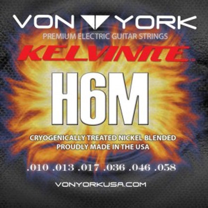 KELVINITE ELEC. GUITAR STRINGS, 10-58, HYBRID H6M
