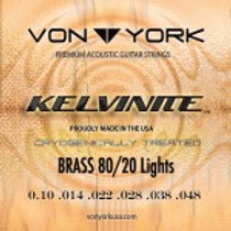 KELVINITE ACOUSTIC GUITAR BRASS STRINGS, 10-48 LGT