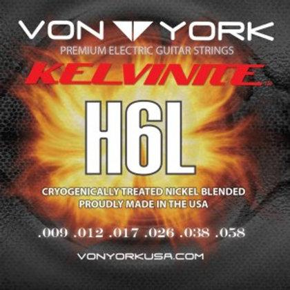 KELVINITE ELEC. GUITAR STRINGS, 09-58, HYBRID H6L