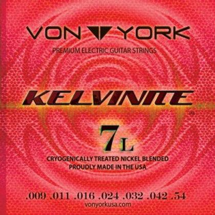 KELVINITE E. GUITAR STRINGS, 09-54, 7 STRING LIGHT