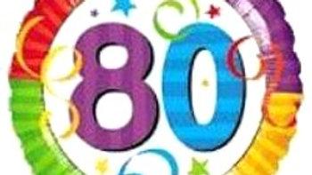 80 Celebration Balloon - Colourful