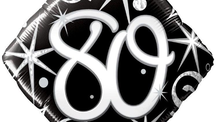80 Celebration Balloon - Elegant Sparkle