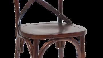 Cross Back Mahogany Chair