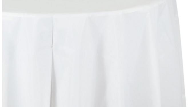 White Tablecloth Round 2.75m