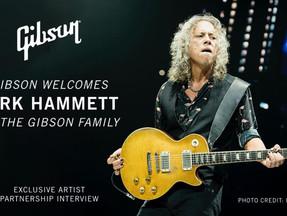 Gibson Announces Brand Partnership with Guitarist Kirk Hammett of Metallica