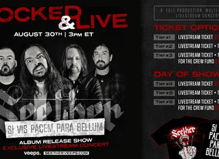 "SEETHER ANNOUNCES EPIC LIVESTREAM EVENT  ""Locked & Live""  Sunday, August 30th At 3 PM ET"
