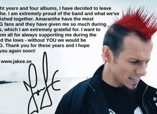 Exclusive: - Interview with Jake E on Amaranthe Exit