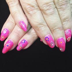 Time for your favorite vacation nails! #BestClientsInTheWorld_#retro #pink #polished #polish #nailgl