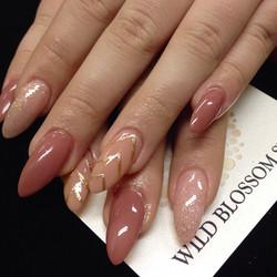 Love the nude trio! _#wildblossomspa #wildblossom #wild #nails #nail #nailswag #nailart #nailglitter