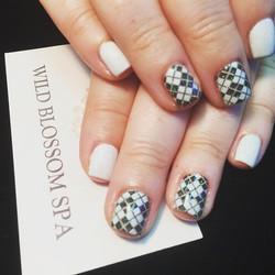 It looks like your nails are wearing miniature argyle socks! I'm gonna miss you lady! 😘😘😘#BestCli