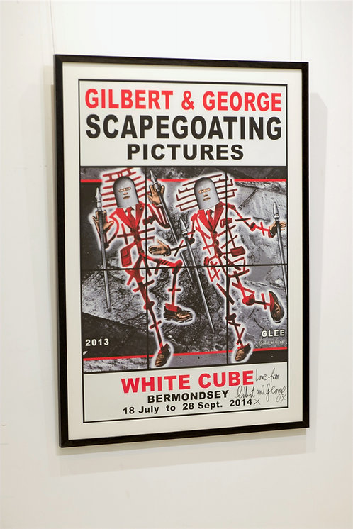 Gilbert & George - Scapegoating Pictures (signed)