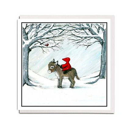 Christmas card: Red Hood ~ Little Donkey