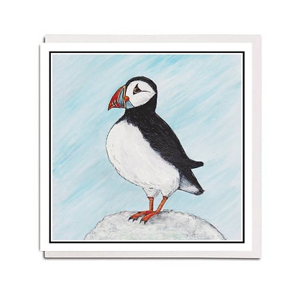 Greetings card: Puffin