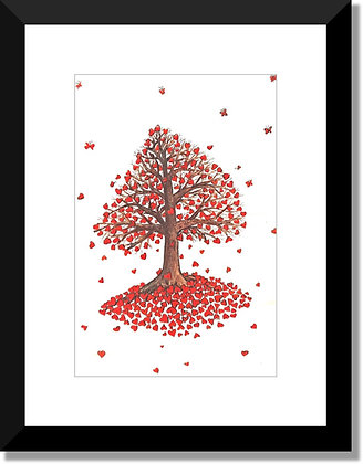 The Tree Collection: Red Heart Tree